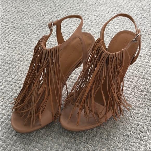 44982db6bd0 Size 8 Kendall & Kylie Aries Nappa Fringe Heels